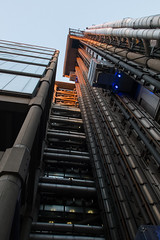 The lines of Lloyd's of London (ho_hokus) Tags: uk england building london architecture insurance lloyds cityoflondon lloydsoflondon 2016 fujix20 fujifilmx20