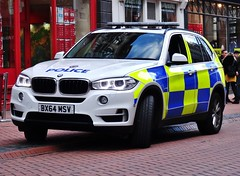 West Midlands Police BMW X5 Firearms Vehicle (OPS155) BX64 MSV, Birmingham City Centre. (Vinnyman1) Tags: city uk england rescue west football birmingham britain centre united great police kingdom gb bmw vehicle operations service emergency command officer services ops wmp midlands response firearm firearms armed 999 x5 msv authorised afo arv oficers bx64 ops155