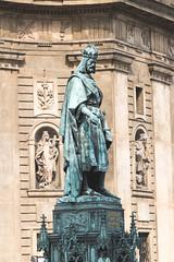King Charles IV Statue, St. Charles Bridge, Karlv Most, Prague, Czech Republic (Kris McNeil) Tags: bridge st statue river king republic czech prague charles most iv vltava karlv