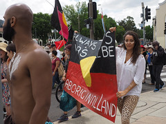Invasion Day march and rally 2016-1260168.jpg (Leo in Canberra) Tags: march rally protest australia canberra australiaday act indigenous invasionday garemaplace 26january2016 aboriginalandtorresstraightislanders lestweforgetthefrontierwars endtheusalliance closepinegap