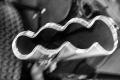 "Tailpipe abstraction from ""Shore Break"" hand-built cartoon car (Vironevaeh) Tags: blackandwhite bw abstract newmexico car metal artistic albuquerque chrome abq vehicle carshow tailpipe customcar shorebreak cartooncar supernationalscarshow radicalcar handbuiltwoody"