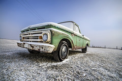 Frosty Ford 2 (Explored) (Stubble Jumper Photography) Tags: winter snow ford truck frost pickup 1960s prairie