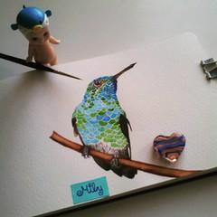 #hummingbird #colibri #birdportrait #moleskine #artjournal #watercolours #acrylics #sonnyangel #blue #green #picaflor (Milagritos9) Tags: square squareformat acrylics juno acuarelas birdportrait picaflor sonnyangel iphoneography birdjournal instagramapp uploaded:by=instagram moleskinewatercolours colibrpintura hummingbirdmoleskine