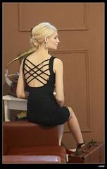 nEO_IMG_DP1U0166 (c0466art) Tags: blue light portrait black girl beautiful face canon hair golden eyes pretty sweet gorgeous indoor skirt suit tall charming kazakhstan noble nitasha 1dx c0466art