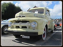 Ford F1, 1951 (v8dub) Tags: auto old classic ford up car 1 schweiz switzerland automobile suisse pickup automotive voiture american f oldtimer pick oldcar collector 1951 wagen pkw klassik pritsche chtelstdenis worldcars