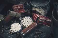 'Shooting times'.... (Taken-By-Me) Tags: uk urban abandoned neglect nikon gun shot time empty watch ruin eerie creepy explore forgotten pocket left bullets derelict ue cartridge urbex d610