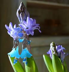 DSC_0794-1 (Chaumurky) Tags: blue fairytale jewelry bijoux fairy tulip earrings jewelery hyacinth fairyjewelry elfjewelry elfearrings