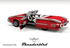 Ford 1961 Thunderbird Convertible (lego911) Tags: auto usa classic ford car america model lego yacht render convertible company land motor 1960s build thunderbird challenge v8 1961 cad tbird lugnuts 390 povray moc ldd rwd miniland 99th lego911