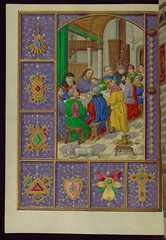 Book of Hours (Medieval text, Modern illuminations), The Last Supper, Walters Manuscript W.441, fol. 31v (Walters Art Museum Illuminated Manuscripts) Tags: england english painting book miniature 19thcentury illumination christian devotion flemish manuscript flanders waltersartmuseum 16thcentury codex 15thcentury bookofhours