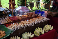 Mystery Balls on a Stick (pbr42) Tags: food thailand banana chiangmai skewers