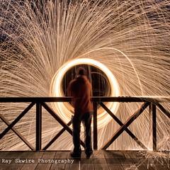 DSC_3960 (Ray Skwire) Tags: light hot color night fire nikon steel heat sparks steelwool d7200