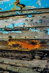 Boat (CJ 1000) Tags: wood blue orange abandoned boat paint norfolk grain driftwood blakeney