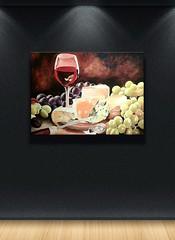 Acryl Reife 70 x 50 cm Dirk NeeRidsch (Dirk NeeRidsch) Tags: painting stillleben acrylic kunst fineart stillife kse wein trauben dirkneeridsch