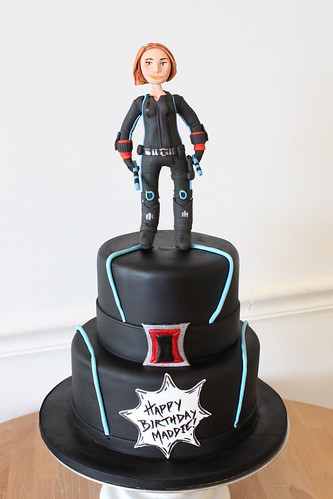 Black Widow Superhero Cake