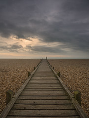 Down The Line (Damian_Ward) Tags: ocean sea beach photography coast kent path walkway boardwalk dungeness seafront damianward ©damianward