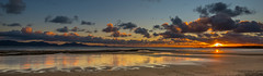Sunset Llanddwyn Bay, Anglesey (christaff1010) Tags: uk sunset sea sky panorama sun sunlight seascape reflection water wales clouds landscape coast unitedkingdom britain hills gb d750 snowdonia llanddwyn gwynedd llangrannog anglesey newborough