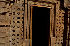 Carved Entrance, Badami (Shyam Vallabh) Tags: stone carvings badami templeart
