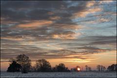 (Rob Millenaar) Tags: morning winter sky holland clouds sunrise landscape scenery nationalparkdwingelderveld