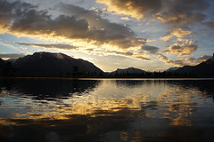 Nordic Center Sunrise (ryan.kole32) Tags: travel trees lake canada reflection nature beauty clouds forest landscape outdoors cloudy sony bluesky alberta grotto rockymountains canmore canadianrockies grottomountain beautyinnature canmorealberta sonya77 cloudsstormssunsetssunrises mirrorimane