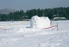 (Jean Arf) Tags: winter sculpture lake snow ice skull frozen mirrorlake iceskating skating february adirondack adk lakeplacid 2015