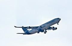 A340 (xwattez) Tags: france plane airport european aircraft aviation airbus transports toulouse aeropuerto blagnac avion a340 2016 aroport europen a340300 vhicule