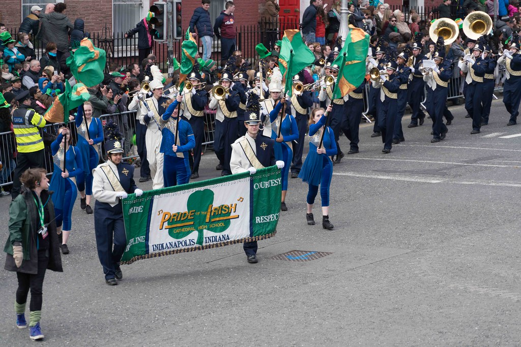 Cathedral High School 'Pride of the Irish' Marching Band [St. Patrick's Day Parade 2016]-112651