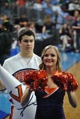 CAVALIER CHEERLEADER (SneakinDeacon) Tags: basketball cheerleaders providence tournament ncaa uva wahoos friars cavaliers bigeast hoos pncarena