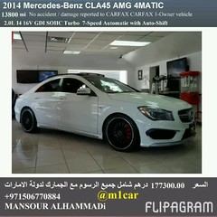 Certified 2014 Mercedes-Benz CLA45 AMG 4MATIC  13800     177300.00                             009715 (mansouralhammadi) Tags:             fromm1carusatoworld