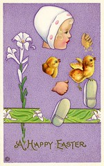 Happy Discombobulated Easter (Alan Mays) Tags: old girls white ny newyork green chickens strange birds animals yellow vintage paper easter cards typography clothing shoes funny holidays humorous comic purple antique humor violet hats surreal illustrations ephemera rochester clothes poultry artists postcards type eggs chicks greetings unusual 1910s fonts printed printers typefaces 1916 greetingcards disjointed postcardseries colesphillips lithographers stecher discombobulated eastercards flowerschildren postcardpublishers postcardartists 506b stecherlithco stecherlithographiccompany series506b