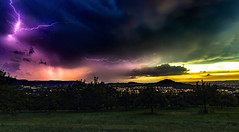Thunderstorm during Sunset (MSPhotography-Art) Tags: summer sky storm nature clouds germany landscape deutschland lights cloudy outdoor sommer natur himmel wolken bluesky thunderstorm summertime lightning ser blitz sonnig landschaft gewitter thunder wandern severe hagel severeweather wanderung hailstorm heis sturm badenwrttemberg schwbischealb unwetter reutlingen bewlkt swabianalb schwbsichealb strumfront