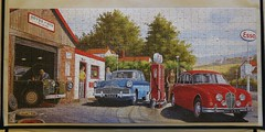"King Exclusive Jigsaw ""The Garage"" by D Roberts IMG_6230 (rowchester) Tags: old garage pump jigsaw jaguar zodiac petrol esso"