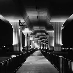 Under the Bridge (josesuro) Tags: bw film architecture florida bridges stuart velvia 4x5 largeformat 2011 ebonysv45ti rodenstock210mmf56aposironars jaspcphotography