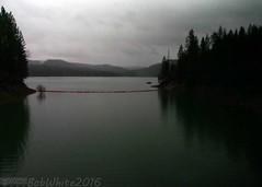 5' from full (Vurnman) Tags: california lake storm rain norcal pontoons spillway nevadacounty scottsflat scottsflatlake cascadeshores