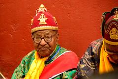 making mahayana look good (David Fast) Tags: nepal asia buddha festivals hats monks lamas mahayana