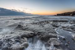 Rock Mist (Steven Peachey) Tags: uk morning england sky seascape beach clouds sunrise landscape coast spring exposure waves backwash whitburn northeastcoast southtyneside northeastengland ef1740mmf4l lee09gnd leefilters canon6d lee06gnd stevenpeachey