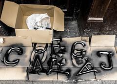 83/366 Street Art? - 366 Project 2 - 2016 (dorsetpeach) Tags: street england art sign painting cafe paint dorset letter 365 dorchester jago 2016 366 aphotoadayforayear 366project second365project cafejago