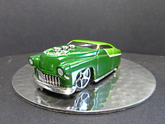 1949 Custom Mercury. (ManOfYorkshire) Tags: green 2004 mirror mercury chrome hotwheels 164 custom range plinth lowered 1949 diecast exaggerated firsteditions hardnoze