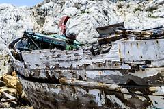 , (Christos Sevaslian) Tags: blue sea island boat day ship greece wreck palio thalassa samos ormos sapio  tarsanas   agiou  karnagio isidorou     mooage   stisidoros