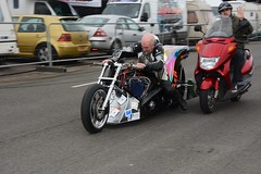 The Dealer (Fast an' Bulbous) Tags: santa england cold bike festival race speed drag march spring pod nikon track power outdoor gimp fast strip motorcycle biker nitro d7100 topfuelbike