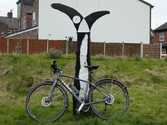 "Fallowfield Loop - the National Cycle Network ""fossil tree"" milepost (stillunusual) Tags: city uk england urban sculpture art bike bicycle trek manchester cycling artwork iron cityscape path contemporaryart modernart trail cycle leve publicart cyclepath urbanlandscape m19 nationalcyclenetwork mcr urbanscenery 2016 milepost sustrans fallowfieldloop levenshulme johnmills fossiltree manchestercentralstationrailway manchestercycleway"