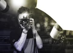 Me (SimonTHGolfer) Tags: blackandwhite selfportrait me studio mirror nikon bokeh flash gradient d750 nikkor f28 reflector selfie 70200mm dualtone flashhead strobist simontalbothurnphotography