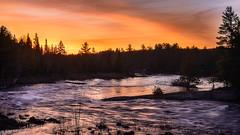 Sunrise over the Madawaska (Uncle_Greg) Tags: sunrise flow madawaska