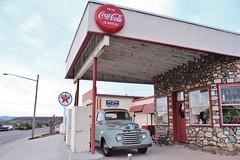 Yarnell, Arizona (USautos98) Tags: ford 1948 pickuptruck f1 cocacola texaco gaspump