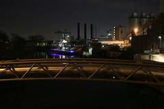 Berlin Westhafen bei Nacht (1/3) (Pascal Volk) Tags: berlin night 35mm reflections nacht reflexion spiegelung westhafen berlinmitte moabit binnenhafen canonef1635mmf4lisusm canoneos6d