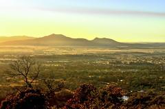 Mt Langi Ghiran at sunrise (phunnyfotos) Tags: morning light rural sunrise dawn golden nikon view australia victoria lookout vic ararat onetreehill earlymorninglight wimmera mountlangighiran d5100 mtlangighiran nikond5100 phunnyfotos