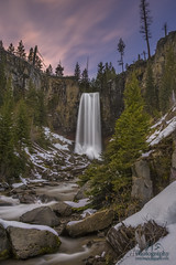 Tumalo Falls (Jon Stone Photography) Tags: longexposure sunset mountain clouds oregon canon landscape evening waterfall pacific northwest bend outdoor falls waterfalls cascades tumalofalls tumalo wondersofnature jonstone canon6d cloudsstormssunsetssunrises jonstonephotography