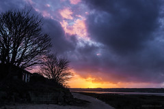 About this time of day (OR_U) Tags: uk pink blue trees sunset red orange house beach wales clouds landscape evening bay solitude catchycolours purple oru cloudscape anglesey 2016 thesupremes redwharfbay