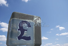 Frozen English Savings (the UMF) Tags: blue sky cold ice clouds frozen 3d melting nobody save business refraction despair unusual concept copyspace transparent savings pound currency isolated finance  threedimensional recession currencysymbol englishcurrency