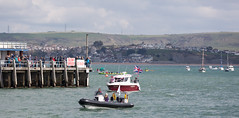 RNLI & Flotilla of Boats - Queen's Brithday (dorsetbays) Tags: sea england boat row lifeboat dorset rowing unionjack unionflag weymouth cadets rnli weymouthharbour flotilla seacadets rowingboat royalnationallifeboatinstitution royaldorsetyachtclub weymouthrowingclub weymouthseacadets hmsboscowan