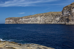 Xlendi cliffs (kurjuz) Tags: blue sea sky wideangle malta cliffs limestone gozo xlendi